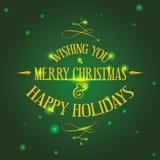 Progettazione del buon anno e di Buon Natale Fotografia Stock Libera da Diritti