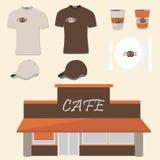 Progettazione del caffè Fotografia Stock