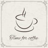 Progettazione del caffè per il menu Fotografia Stock