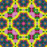 Progettazione del caleidoscopio dell'arcobaleno per la tasca quadrata, scialle, tessuto Modello floreale di Paisley illustrazione vettoriale