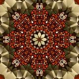 Progettazione del caleidoscopio Simbolo del fiore di loto della mandala Immagini Stock Libere da Diritti