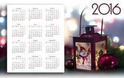 Progettazione del calendario 2016 fotografia stock