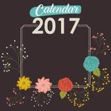 progettazione del calendario da 2017 anni illustrazione di stock