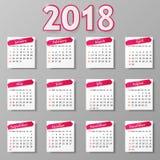 Progettazione del calendario Illustrazione di vettore royalty illustrazione gratis