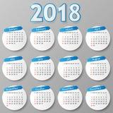 Progettazione del calendario Illustrazione di vettore illustrazione vettoriale