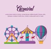 Progettazione del circo di carnevale illustrazione vettoriale