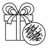 Progettazione del contenitore e del biscotto di regalo illustrazione vettoriale