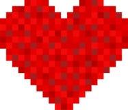 Progettazione del cuore del pixel Immagini Stock