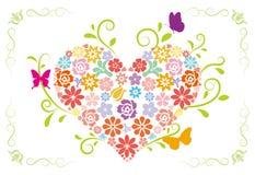 Progettazione del cuore della primavera illustrazione di stock