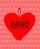 Progettazione del cuore di lerciume Fotografie Stock Libere da Diritti