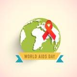 Progettazione del distintivo per il concetto di Giornata mondiale contro l'AIDS Immagini Stock