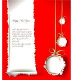 Progettazione del documento introduttivo di Natale Fotografia Stock Libera da Diritti