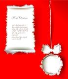 Progettazione del documento introduttivo di Natale Immagini Stock Libere da Diritti