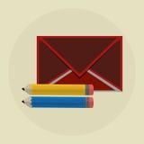Progettazione del email Icona della busta Illustrazione di Colorfull, grap Fotografie Stock
