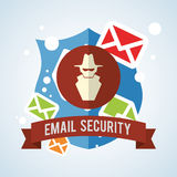 Progettazione del email Icona della busta illustrazione, vettore Fotografia Stock Libera da Diritti