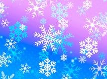 Progettazione del fiocco della neve Fotografie Stock Libere da Diritti