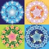 Progettazione del fiore sul fondo di lerciume Illustrazione Vettoriale