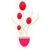 Progettazione del fiore in vaso royalty illustrazione gratis