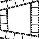 Progettazione del fondo con gli elementi della pellicola fotografica illustrazione vettoriale