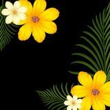 Progettazione del fondo con i fiori gialli royalty illustrazione gratis
