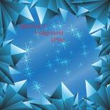 Progettazione del fondo del blu di ghiaccio fotografia stock