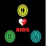 Progettazione del fondo dell'AIDS Fotografie Stock Libere da Diritti