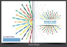 Progettazione del fondo della copertura del rapporto annuale di affari illustrazione vettoriale