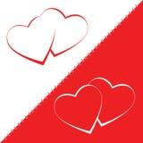 Progettazione del fondo di amore del biglietto di S. Valentino di vettore del cuore Immagini Stock Libere da Diritti