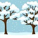 Progettazione del fondo di inverno con l'estratto stilizzato Fotografia Stock Libera da Diritti