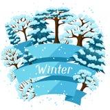 Progettazione del fondo di inverno con l'estratto stilizzato Fotografie Stock Libere da Diritti