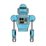 progettazione del fumetto del robot illustrazione di stock