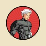 Progettazione del fumetto dell'uomo del supereroe royalty illustrazione gratis