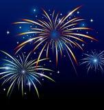 Progettazione del fuoco d'artificio Fotografie Stock Libere da Diritti