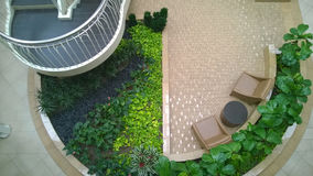 Progettazione del giardino dell'interno Fotografia Stock Libera da Diritti