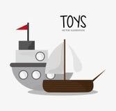 Progettazione del giocattolo e del gioco della nave Immagini Stock