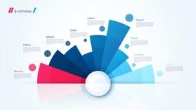 Progettazione del grafico del cerchio di vettore, modello per creare infographics illustrazione di stock