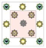 Progettazione del lenzuolo tutto il cambiamento del confine di rivestimento di strato royalty illustrazione gratis