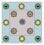 Progettazione del lenzuolo tutto il rivestimento di strato royalty illustrazione gratis