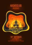Progettazione del manifesto del partito di Halloween Immagine Stock