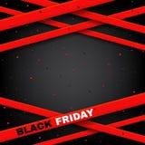 Progettazione del manifesto dell'illustrazione di vettore di vendita di Black Friday Fotografie Stock Libere da Diritti