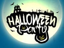 Progettazione del manifesto, dell'insegna o dell'aletta di filatoio del partito di Halloween Immagine Stock Libera da Diritti