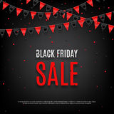 Progettazione del manifesto della vendita di Black Friday Fotografia Stock
