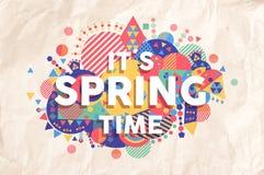 Progettazione del manifesto di citazione di tempo di primavera Fotografia Stock