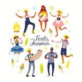 Progettazione del manifesto di Festa Junina illustrazione di stock