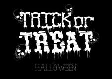 Progettazione del manifesto di Halloween di scherzetto o dolcetto con gli elementi disegnati a mano Immagine Stock