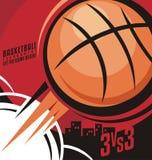 Progettazione del manifesto di pallacanestro illustrazione di stock
