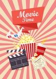 Progettazione del manifesto di tempo di film Immagini Stock