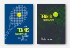 Progettazione del manifesto di tennis Fotografia Stock