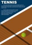 Progettazione del manifesto di torneo di tennis Modello di vettore del manifesto Fotografia Stock Libera da Diritti