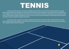 Progettazione del manifesto di torneo di tennis Modello di vettore del manifesto Immagini Stock